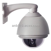 High Speed IP Dome Cameras using in Outdoor View by IE Built-in MIC