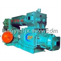 Hollow brick making machine-Series double stage vacuum extruder