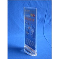 Oval Base Acrylic Menu Holder