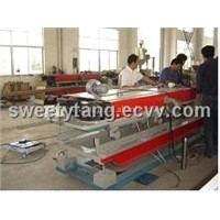 PE/PP/PVC single wall corrugated pipe extrusion line