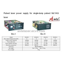 Pulsed laser power supply for single-lamp pulsed Nd:YAG laser