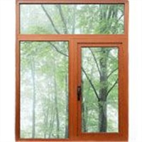 Wood grained aluminium windows