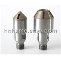 diamond countersink bit and sleeves for glass chamfering
