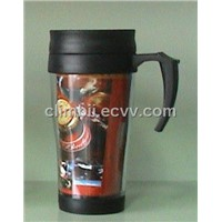 Injection Plastic Double Layer Water Bottle Advertisement Gift Promotion Cup