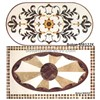 Medallion waterjet flooring