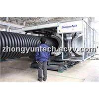 PE Double Walled   Corrugated Pipe machine