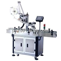 Automatic flat bottle labeling machine