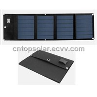 12W/18V Amorphous Thin Film Foldable Solar Panel in Black