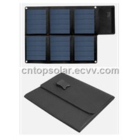 15W/15V Amorphous Thin Film Foldable Solar Panel in Black