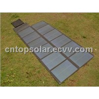 72W/18V Thin Film Amorphous Foldable Solar Panel in Black