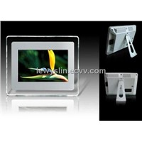 7 inch LCD digital photo frame, multimedia player