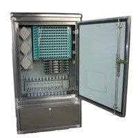 96 Cores Stainless Steel Fiber Optic Cross Connection Cabinet