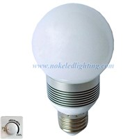 Dimmable E27 3x1W Bulb