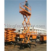 Four-Wheel Mobile Scissor Lift Tables