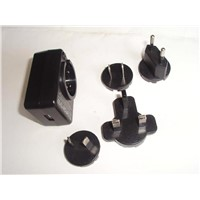 Interchangeable Plug Power Adapter / Plug Adapter with USB