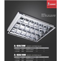 Mirror/mate aluminum grille lamp tray