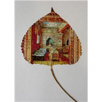 Painting on Leaves (Tibetan folk house)