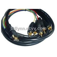 RCA Cable/Handy HDMI To Component Video Cable/AV Cable/Audio Cable