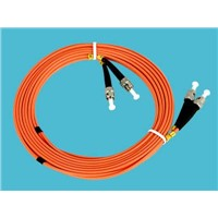 ST PC Multimode Fiber Optic Patch Cord