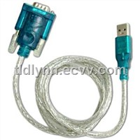 USB 2.0 To DB9 Serial 9 PIN RS232 Adapter Cable PDA GPS