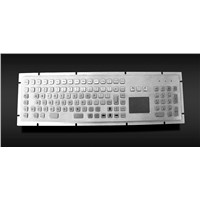Metal Keyboard with Numeric Keypad And Trackball