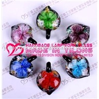 murano glass flower jewelry(pendant,charm)