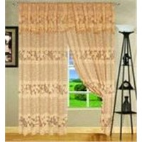 Warp Knitting Lace Polyester Curtain