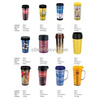 Plastic Double Layer Water Bottle Advertising Gift Mug