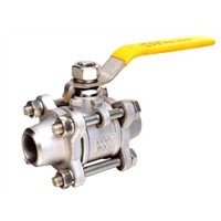 3 Pc Welded End Ball Valve