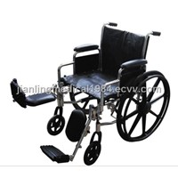 Chrome Wheelchair for Fat People