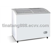 Cuved Glass Door Chest Freezer