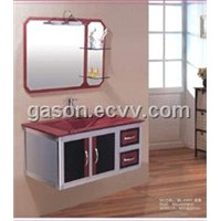 Glass Vanity Steel Stainless Cabinet Bathroom Furniture