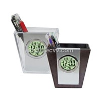 Pen Holder with Calendar Clock (ST-852)