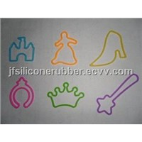 Princess Shaped Silicone Rubber Bands