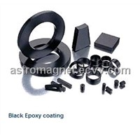 Sintered NdFeB Magnet with Black Epoxy Coating