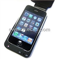 for for iphone 3G/3GS battery leather case