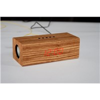 wooden FM radio with clock