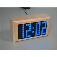 Wooden LED Matrix Clock
