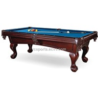 American Carving Pool Table