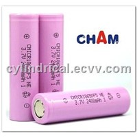 Cylindrical Lithium Ion Battery 18650 3.7V-2400mAh