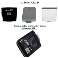 Portable Mobile Phone Battery Chargers with USB