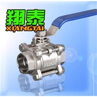 Stainless Steel 3PCS Socket-Welding Ball Valve,Three Piece Socket-Welding Ball Valve, 1000WOG, with
