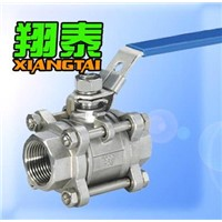 Stainless Steel 3pc Ball Valve with Thread