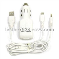 USB / NDSL/PSP 3-in-1 Car Charger