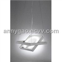 Modern Double Sided Ceiling Light - Pendant Square