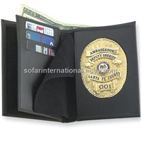 Leather Wallet with Germany, France & Usa Cutout