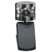 12MP Driverless Webcam Built-in Microphone CMOS PC Camera with LED