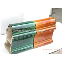 Ceramic Glazed Roof Tiles (Ridge Tile)