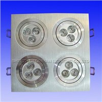 12W Rectangle Recessed LED Downlight