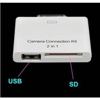 2 in 1 Camera Connection + Card Reader Kit for Apple iPad